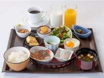 広島県産の食材にこだわった和食膳「大切な朝ごはん」(一例)