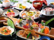 <夕食一例>グレードアップ【白洲プラン】。南島原の恵みを堪能ください!