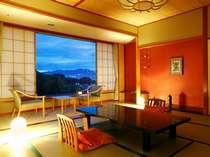 【和室12.5畳+広縁】見晴らしの良い、基本ルームよりひとまわり広い客室