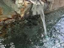 源泉かけ流し。効能豊富な姫川温泉