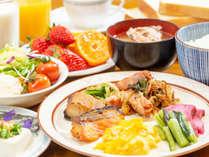 *朝食/人気のバイキング♪好きなものをお好きなだけどうぞ!(朝食一例)