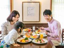 家族でゆっくりと朝食を♪