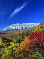 秋の大山北壁