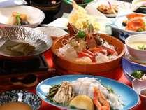 桶盛り刺身と海鮮しゃぶしゃぶ鍋プラン
