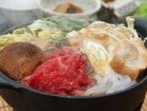 湯治プランのすき焼き(イメージ)