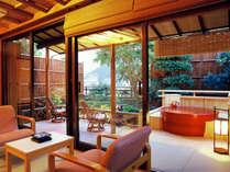 素翁亭~信楽焼の露天風呂付和室~/離れのような風情で広めの間取り。