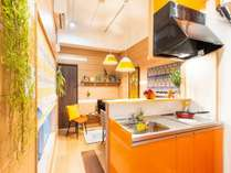 長期滞在もOK!シンプルで使いやすいキッチン