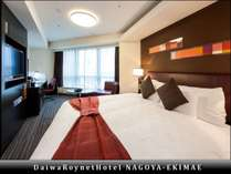 【エグゼクティブコーナーダブル(3)】部屋の広さ23平米、ベッド幅168cm