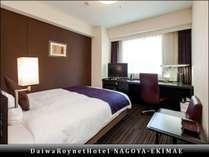【エグゼクティブシングル/ダブル(1)】部屋の広さ18平米、ベッド幅154cm