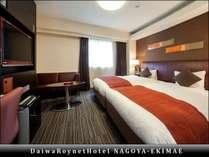 【エグゼクティブツイン(1)】部屋の広さ25平米、ベッド幅110cm