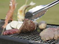 BBQ食材は、秋田県産の牛・豚・鶏・野菜など盛り沢山!みんなで楽しいバーベキュー♪