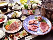 【夕食一例】いちばん人気の『あか牛&サーロイン』コース