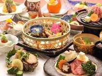 旬の食材を使用した季節の会席料理を堪能しよう!/一例