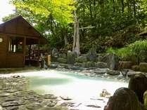 ブナの原生林を眺めながらの露天風呂「鬼面の湯」