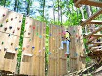 111:【森で遊ぶ】森の中のアスレチック☆大自然ファミリーコース体験