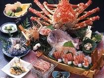 【夕食】高足ガニとエビカニづくしの磯料理