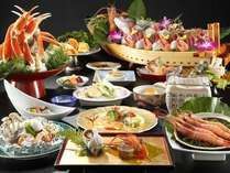 【夕食】エビカニづくしの磯料理