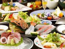 【夕食】駿河湾の海の幸と、伊豆育ちの野菜の相性を堪能できる、『伊豆の幸~創作和会席』季節の一例