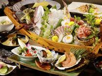 【夕食】お刺身が主役~大漁舟盛~季節の一例