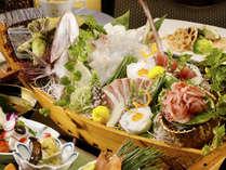 【夕食】大舟盛付~季節の一例
