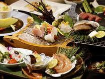 【夕食】欲張り海の幸~伊勢エビ&アワビ~季節の一例