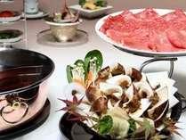 但馬牛しゃぶと松茸鍋のの特別会席(イメージ)