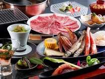 海鮮網焼きと3種の選べるしゃぶしゃぶコース(和牛)イメージ