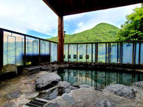 ■展望露天風呂 新緑を眺めながらの露天風呂♪