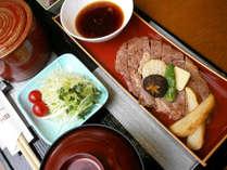 【牛ステーキ陶板焼き御膳】お肉大好き!な人にぴったり♪