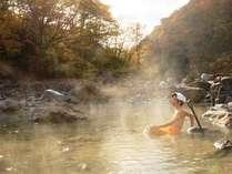 【切明温泉名物!】河原湯で手掘り温泉を楽しむ♪なんと川原湯セットを無料でレンタル!【1泊2食】