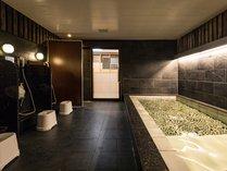 男女入替制大浴場。