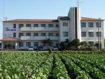 ホテル外観(キャベツ畑とともに・・・)