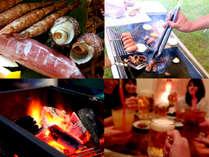 お部屋の庭でBBQをお楽しみ頂けます。飲物&食材持ち込みOK!調理器具も完備しております♪