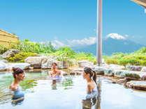 4大特典付き♪レディースプラン登場!富士山を眺めながらの露天風呂はメタケイ酸などが豊富な美肌湯。