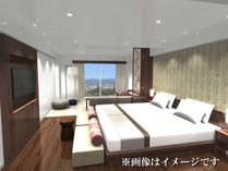 【New!】「富士見プレミアルーム」富士山が見える寛ぎスペースとシモンズ製マットレスを備えた上質空間!