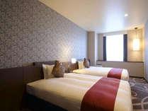 【デラックスツイン】 幅140cmのシモンズ製ベッドでごゆっくりお休みください。,大阪府,ホテル・ラ・レゾン大阪(3月1日~クインテッサホテル大阪ベイ)