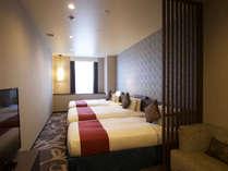【デラックスツインプラス】幅120cmのツインベッドと幅97cmのハイダーベッドをプラスしたお部屋です。,大阪府,ホテル・ラ・レゾン大阪(3月1日~クインテッサホテル大阪ベイ)