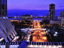 館内からの夜景,大阪府,ホテル・ラ・レゾン大阪(3月1日~クインテッサホテル大阪ベイ)