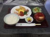 【洋食(ライスセット)の朝食付】
