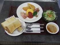 【洋食(パンセット)の朝食付】