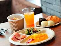 """ビジネスラウンジで提供する軽食サービス""""N's morning""""(イメージ)"""