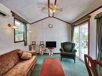 【リビングルーム】機能的なソファーベッドもございます。