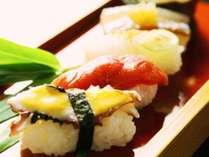 旬のネタで寿司 5カン付き