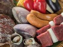 *海鮮BBQイメージ/季節・天候により一部食材が変更になる場合もございます