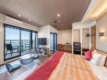 「ビーチリゾート×和モダン」テーマの全客室に掛け流し露天風呂をご用意