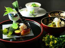 *和のオーベルジュ 野遊び会席 一例*見ても楽しい創作料理。月毎にかわる味をお楽しみいただけます