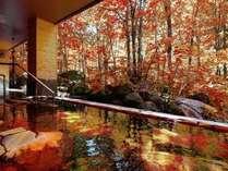 【大自然の湯「川の囁き」】紅葉を見ながらの露天は格別!