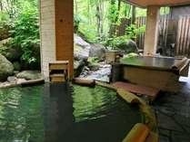 【大自然の湯「鳥の声」】湯の花浮かぶ乳白色の硫黄泉でリフレッシュ