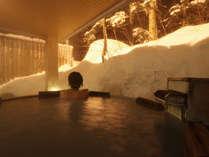 【大自然の湯「鳥の声」】寒い冬には、あたたかい温泉がイチバン♪心ゆくまで露天風呂をご堪能下さい