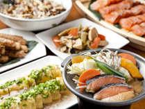和食をお好みの方にもピッタリ!バラエティ豊かなメニューをご用意しています(一例)